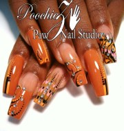 brown marble nail art