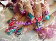pretty gems nails - nail