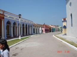 Calles típicas de Tlacotalpan.