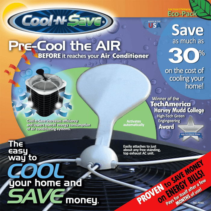 Cool-n-Save AC Misting Kit