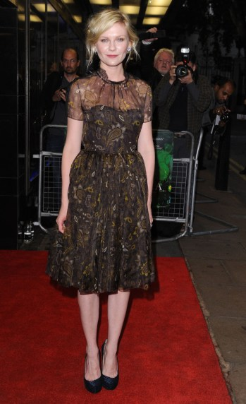 """#7942522 Actress Kirsten Dunst attends the premiere of """"Melancholia"""" at Curzon Mayfair on September 28, 2011 in London, England. Restriction applies: USA ONLY - NO NEW YORK NEWSPAPERS Fame Pictures, Inc - Santa Monica, CA, USA - +1 (310) 395-0500"""