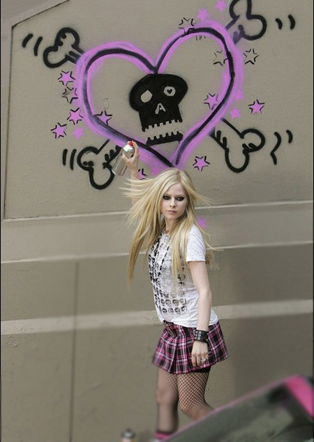 Rock Faerie Avril Lavigne Hot Hairstyle Selfless