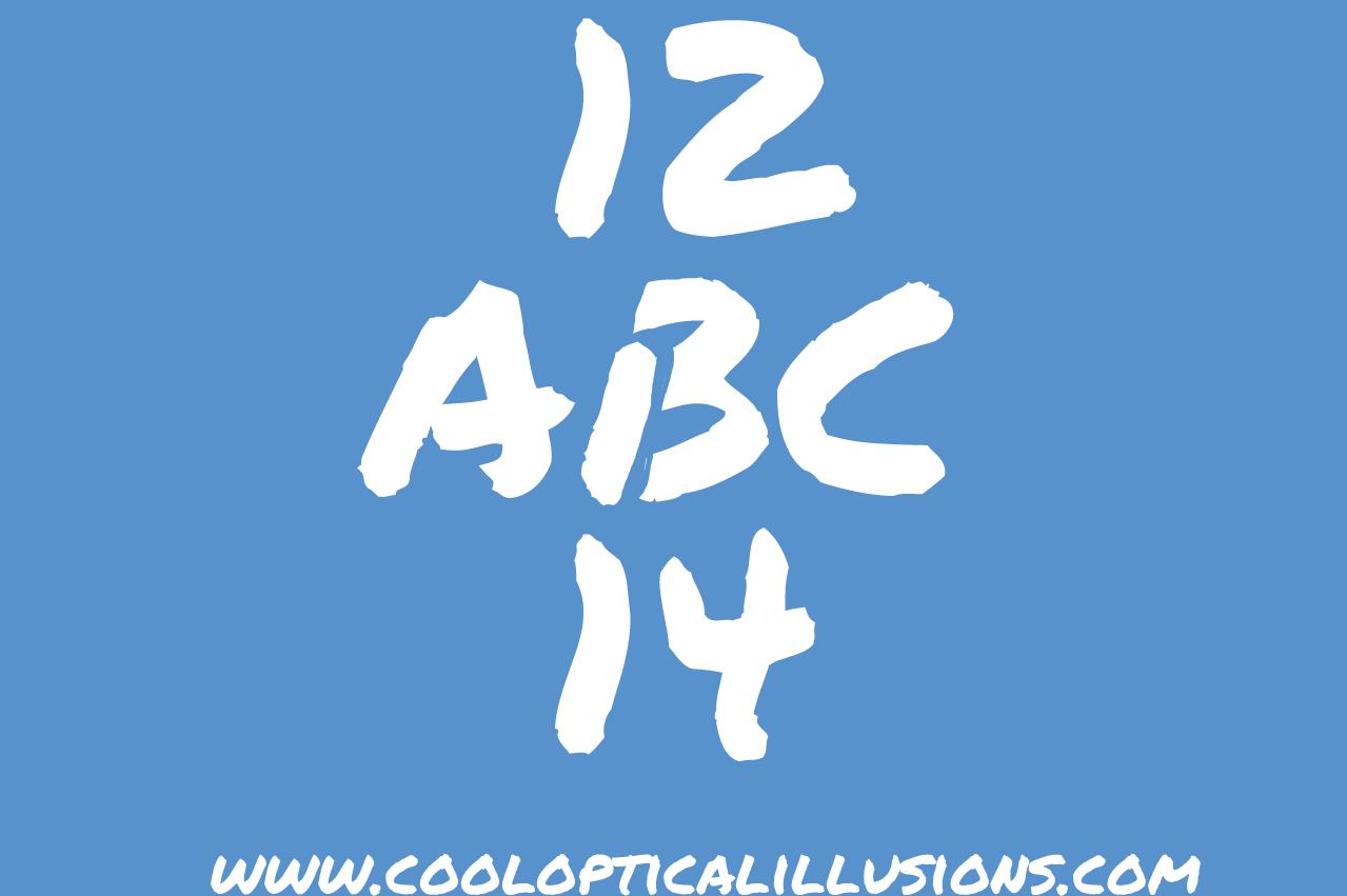 ABC 123  Cool Optical Illusions  Amazing Optical Illusions