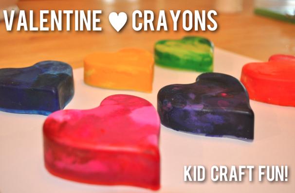 Diy Valentines Crayon Hearts Cool Progeny