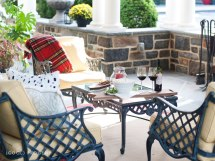 Cool Home Style Cozy Outdoor Fall Living Space