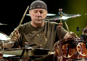 """""""Neil Peart jams during an evening with Rush as they perform during their Time Machine Tour stop August 16, 2010 at Red Rocks Amphitheatre. John Leyba, The Denver Post"""""""