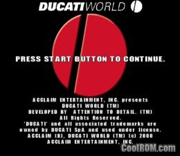 Ducati World - Racing Challenge (Europe) ROM (ISO) Download for Sony Playstation / PSX - CoolROM ...