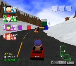 South Park Rally ROM (ISO) Download for Sony Playstation / PSX - CoolROM.com