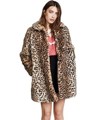 ALICE + OLIVIA / Kinsley Faux Fur Coat / $795