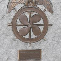 Merchant seamen memorial plaque in San Diego.