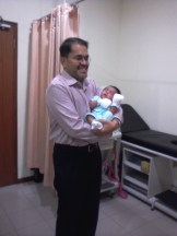 3 week old Jay with Dr Fabian