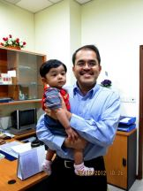 7 month old Jay with beloved Dr. Fabian
