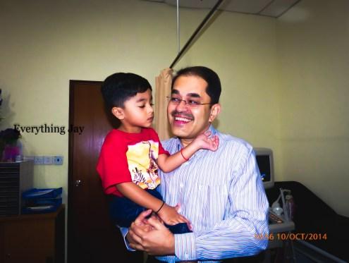 2 1/2 year old Jay wishing Dr. Fabian a very happy birthday