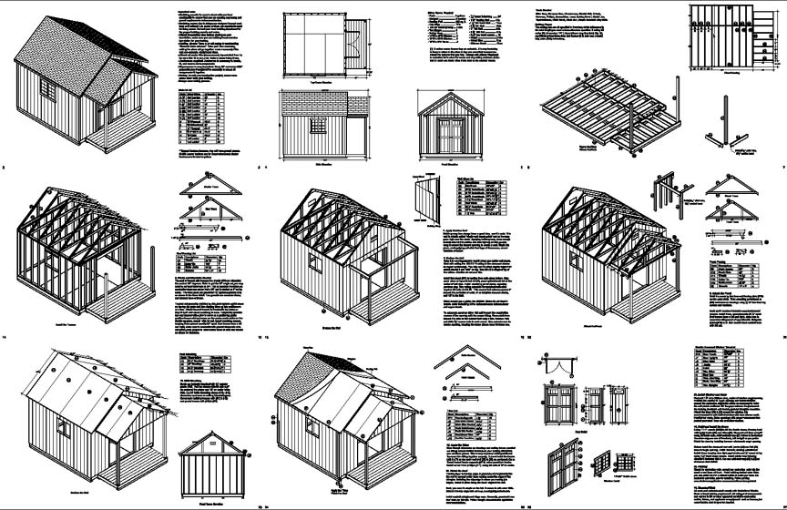 16 X 16 Shed Plans Free : Storage Shed Designs 5 Features