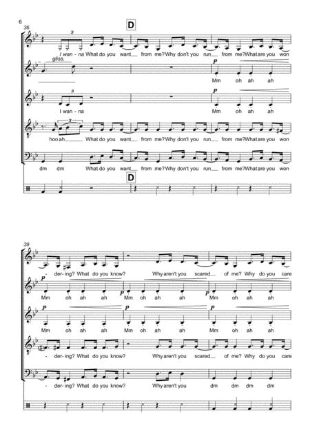 Bury A Friend SATB With Vocal Percussion Sheet Music PDF Download - coolsheetmusic.com
