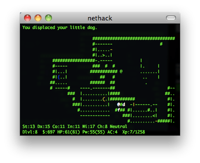 nethack screenshot