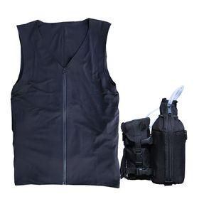 【319iEZ3R】熱中症対策人間エアコン冷却着衣ベスト型水冷服(下着)サラリーマンエアコンCoolArmor CA3 EZ3R+CS319iシステムセット【ALLBLACKS】 弱冷型水冷服エントリーモデル 保冷性、耐久性を向上した過酷な現場のための着衣EZ3R