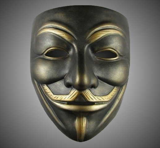 Bronze V for Vendetta Guy Fawkes Anonymous Mask  Cool
