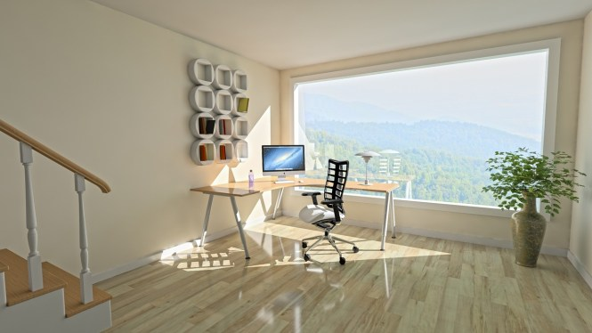 A zen home office