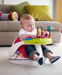 Mamas & Papas Baby Snug Floor Seat With Play Tray  Red