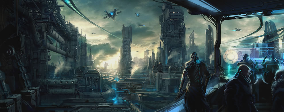 Justice League Hd Wallpapers Free Download Futuristic Industrial City Concept Artcoolvibe Digital Art