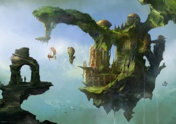 floating palace concept coolvibe fantasy sky digital please