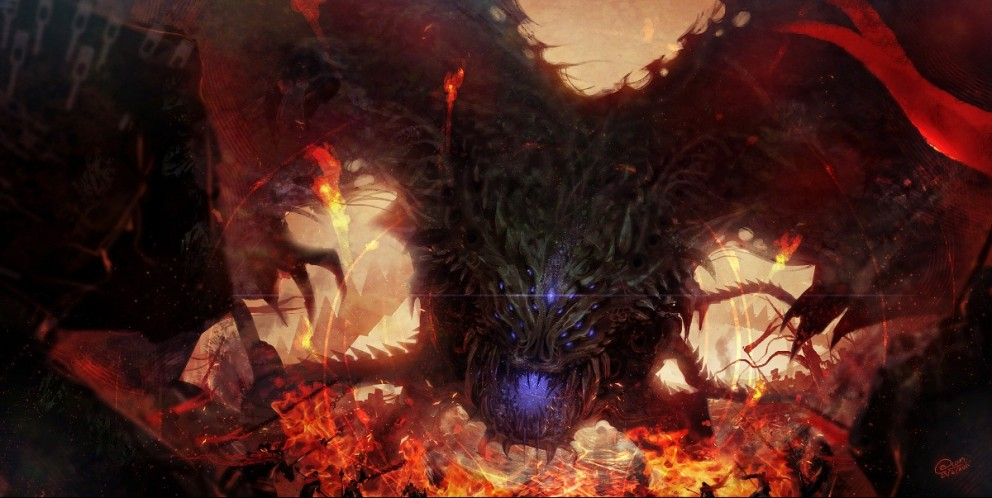 3d Name Wallpapers Software Free Download Dragon Attack By Yee Ling Chung Digital Paintings