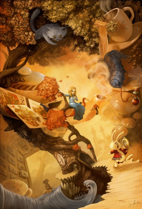 Alice In Wonderland Coolvibe - Digital Artcoolvibe Art