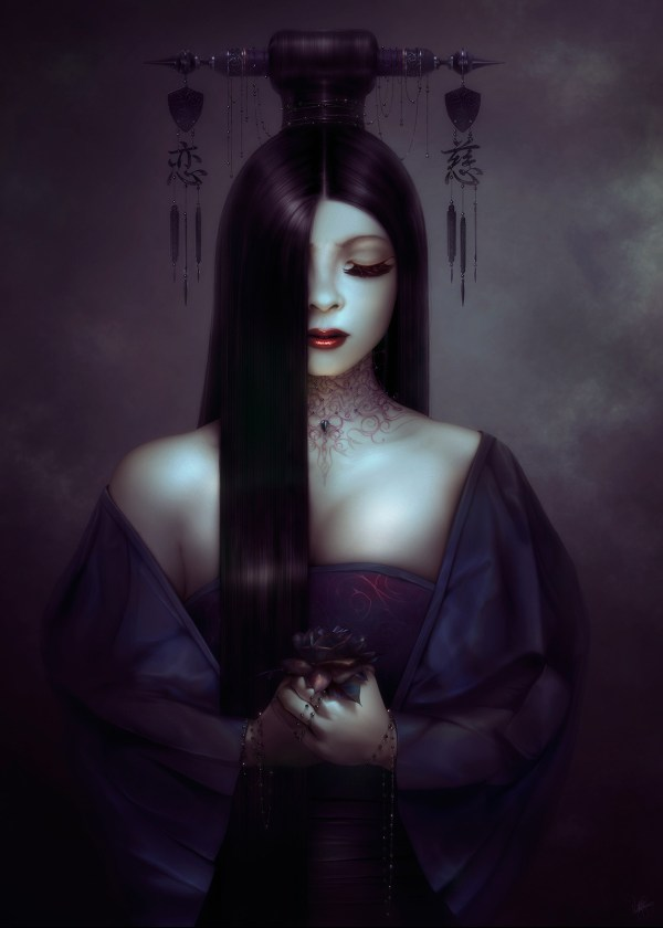 Beautiful Women Digital Art Dark Hair