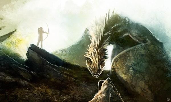 Digital Painting Dragon Hunt - 2d
