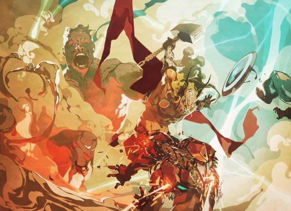 Illustration Clash Of Titans - 2d Digital Concept