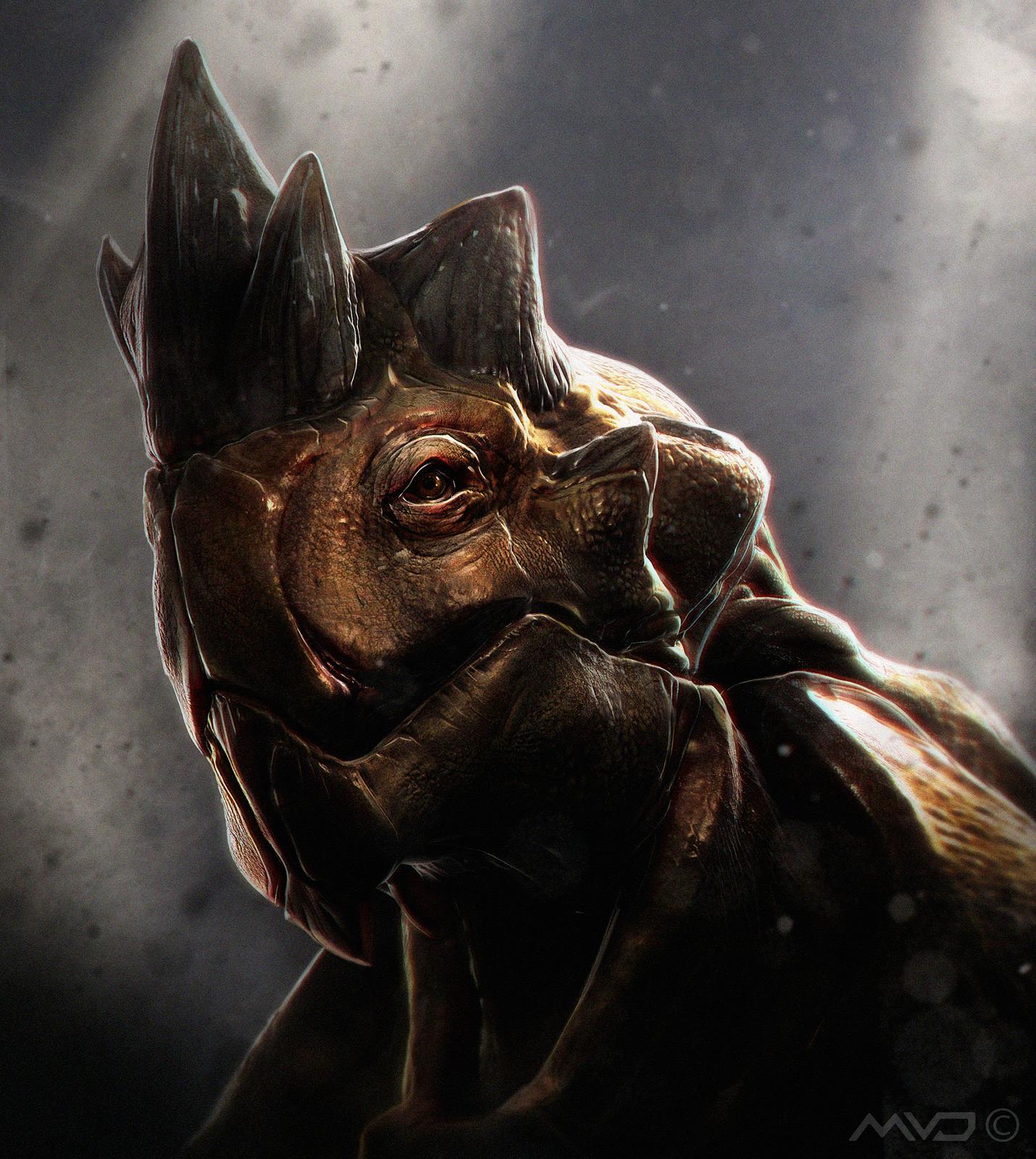 3d art rhino creature