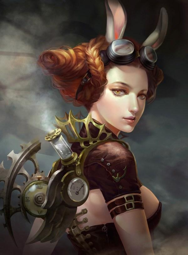 Steampunk Girl Art