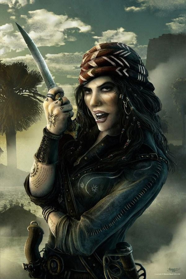 Realistic Female Pirate Drawings