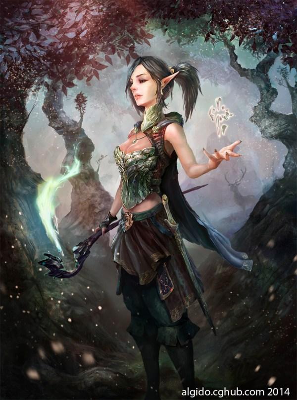 Female Elf Sci-Fi Art