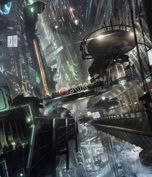 Futuristic City Sci-Fi Digital Art