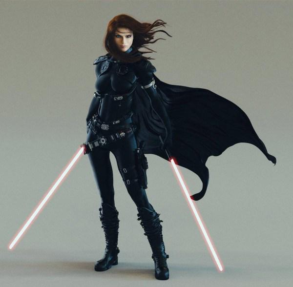 Sci-fi Art Mara Jade - 3d Concept Sci-ficoolvibe