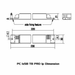 Tridonic T8 Ballast Wiring Diagram 2001 Ford F250 Ignition Pc1x36 Pro 22185214 Coombe Electrical Lp Dimension Pc1x58t8pro