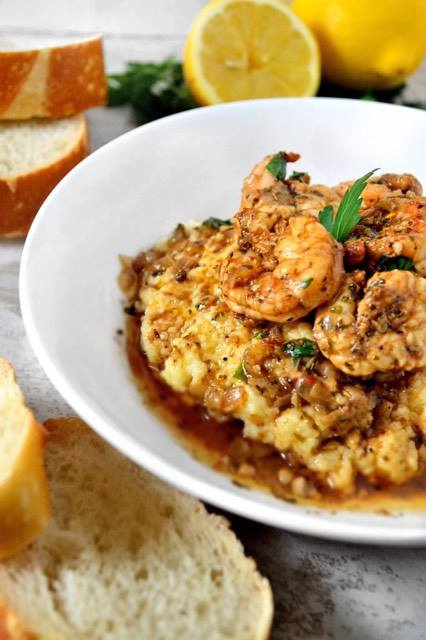 BBQ Shrimp over Grits