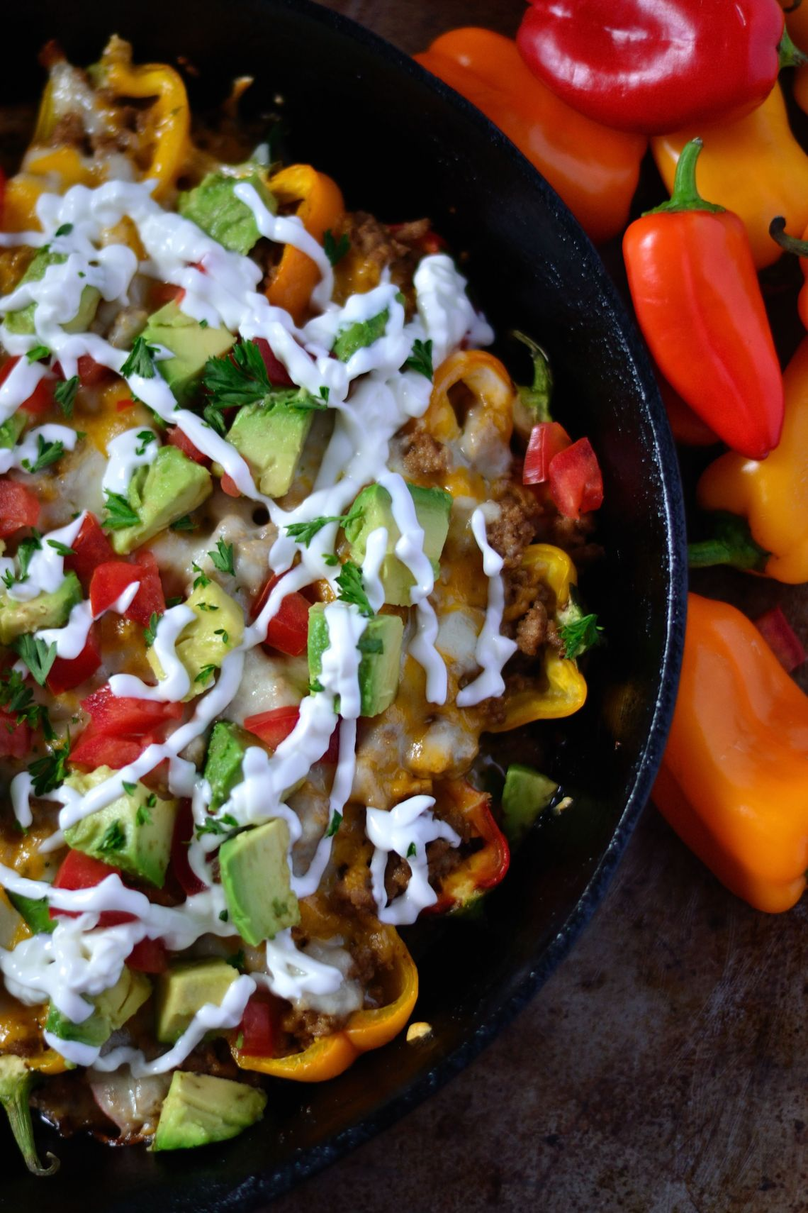 Keto Loaded Bell Pepper Nachos