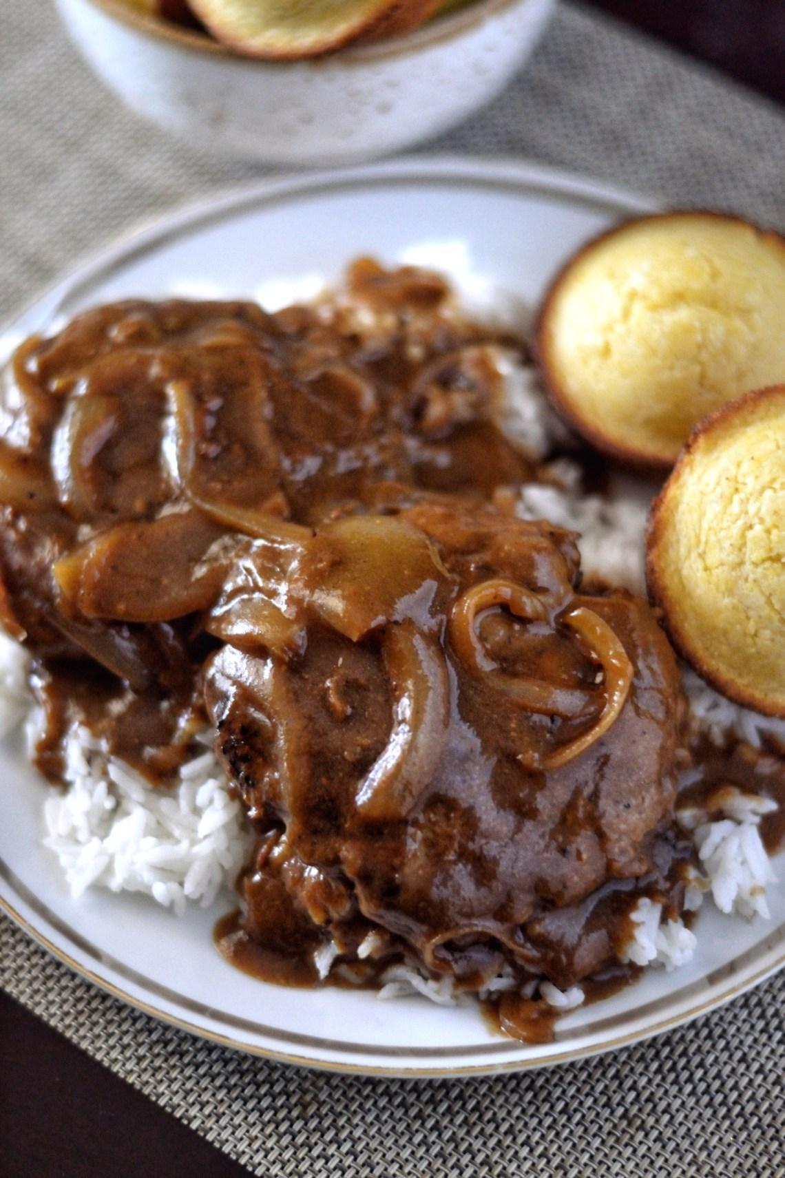 Home Style Hamburger Steak and Onion Gravy Recipe