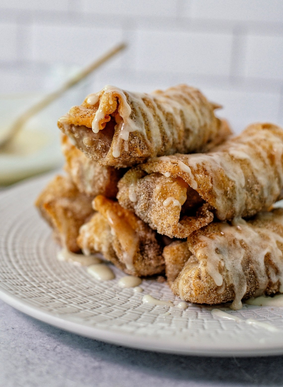 Caramel Apple Egg Rolls Recipe