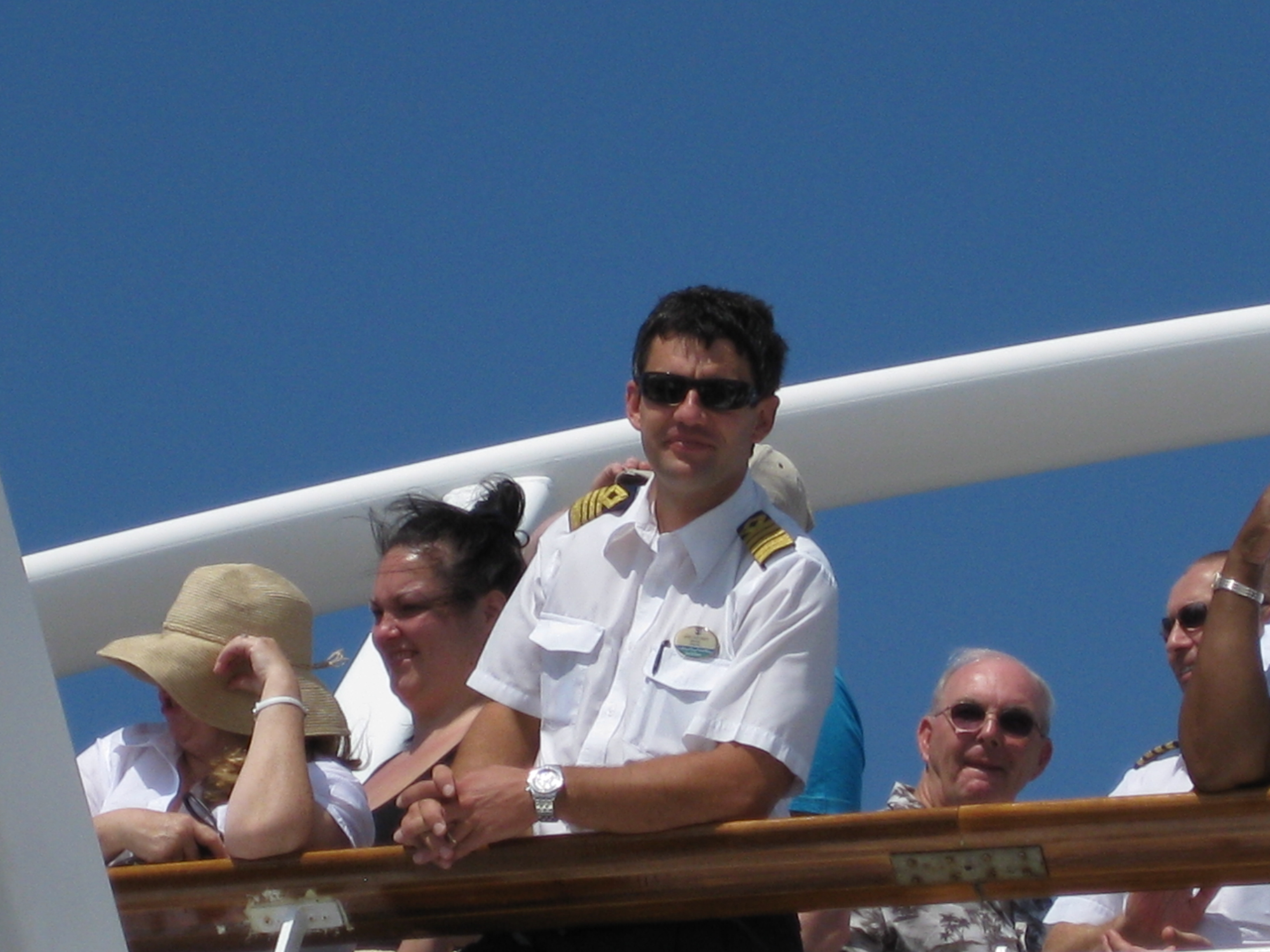 The Captain was the cutest Serbian sailor I'd ever met  lol