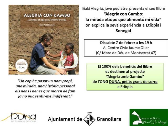 Presentación en Centre Cívic Jaume Oller de Granollers alegria gambo