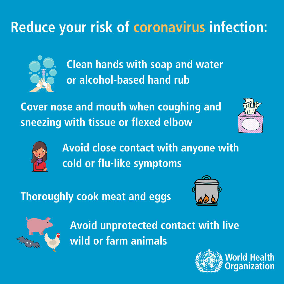 Novel Coronavirus advice for the public