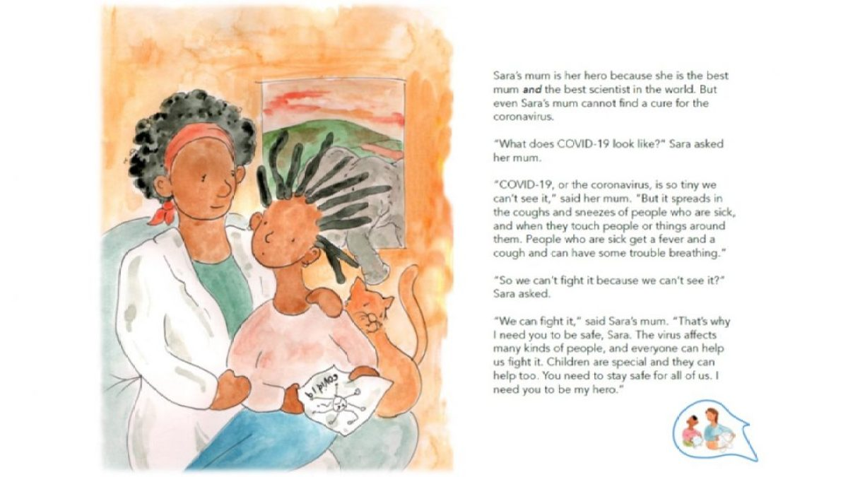 My hero, Children's story book to help children and young people cope with COVID-19 africa