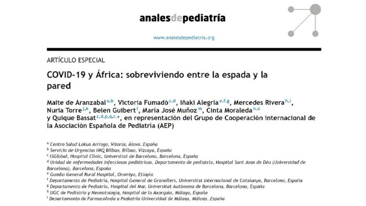 COVID-19 y África: sobreviviendo entre la espada y la pared africa alegria gambo alegria sin fronteras dr alegria etiopia gambo