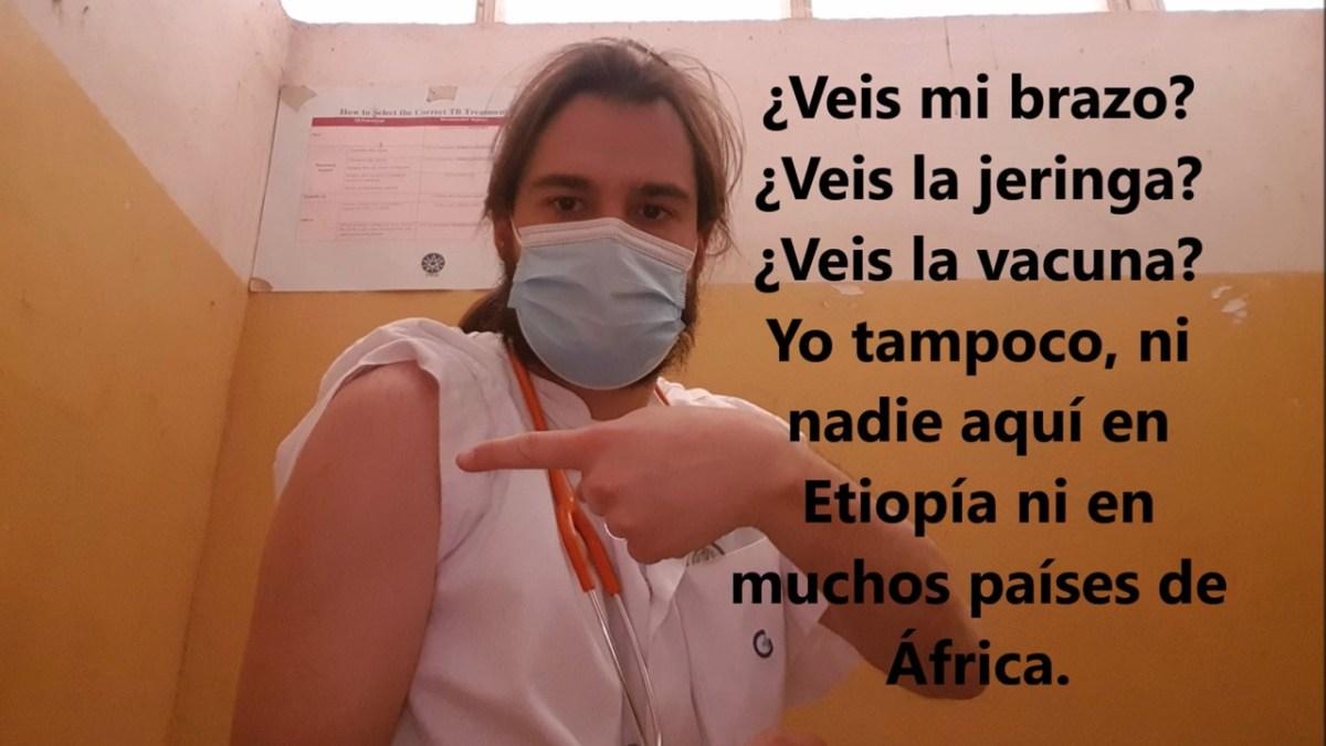 Esperando la segunda dosis de la vacuna #africavisiblec19 #coronaversos actualidad africa coronavirus emergencias proyectos Vacuna Covid19