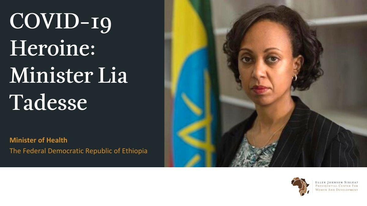 COVID-19 Heroine: Minister Lia Tadesse actualidad coronavirus emergencias