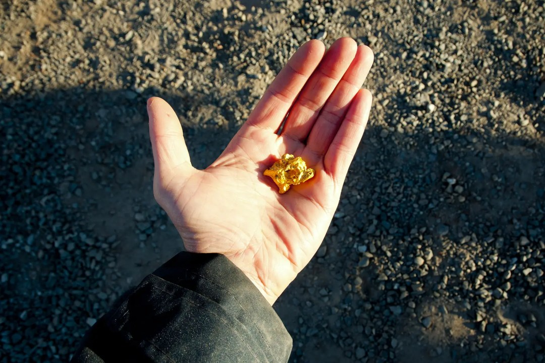 Pure Gold Nugget from Prospecting in the Outback